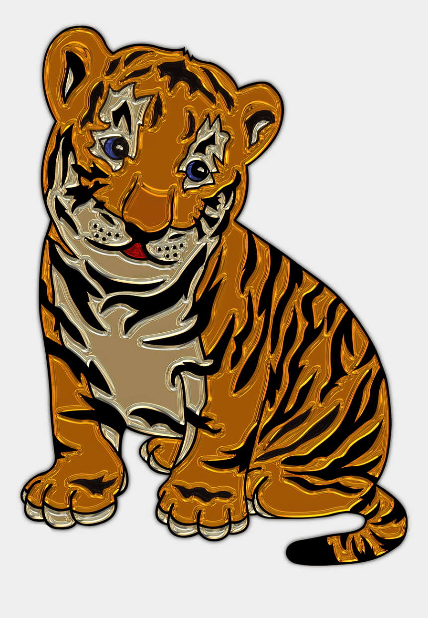 lion cub clipart, Cartoons - Download Lion Cub Sitting Plastic Art Transparent Png - Drawing Of Baby Tigers