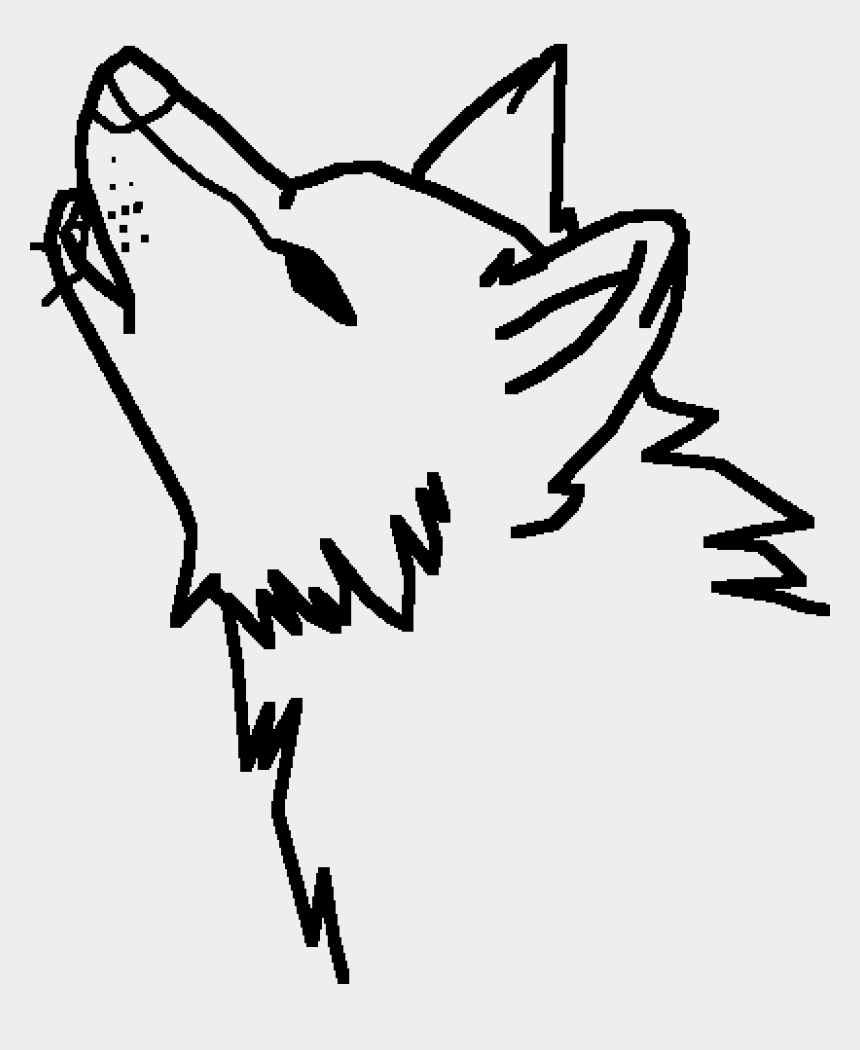 wolf howling clipart, Cartoons - A Howling Wolf - Draw First Nations Art