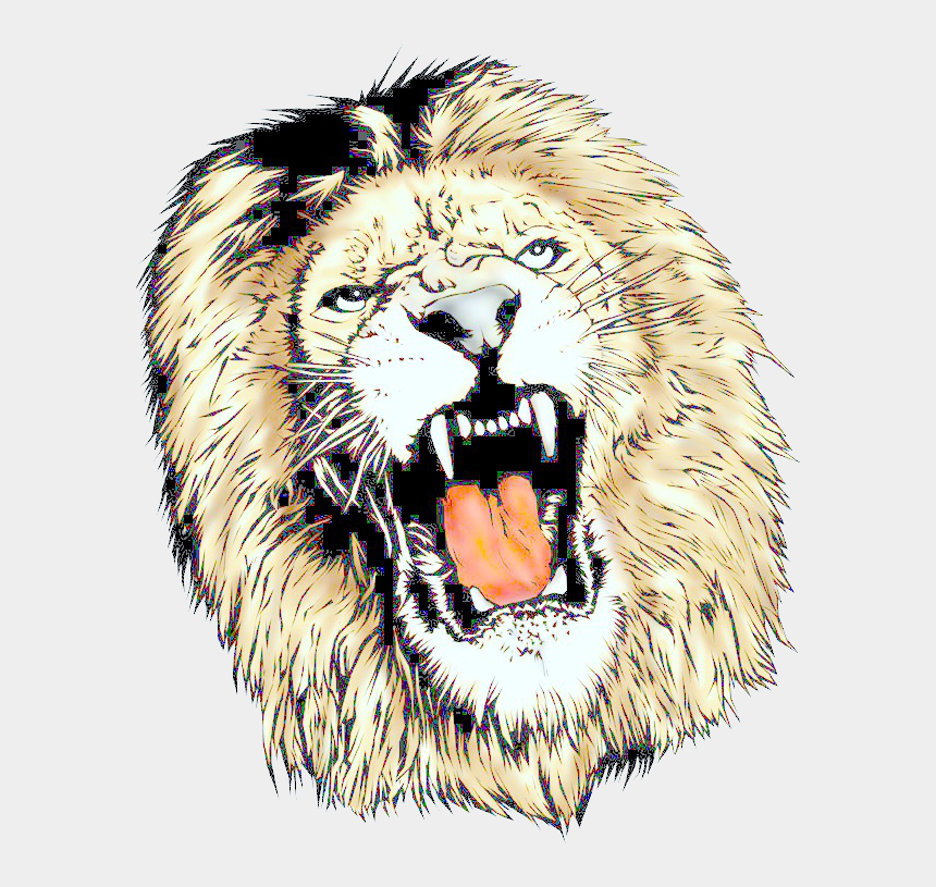 lion head clipart, Cartoons - Free Icons Png - Lion Png