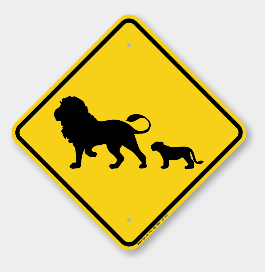 lion cub clipart, Cartoons - Animal Crossing Road Sign - Lion Silhouette