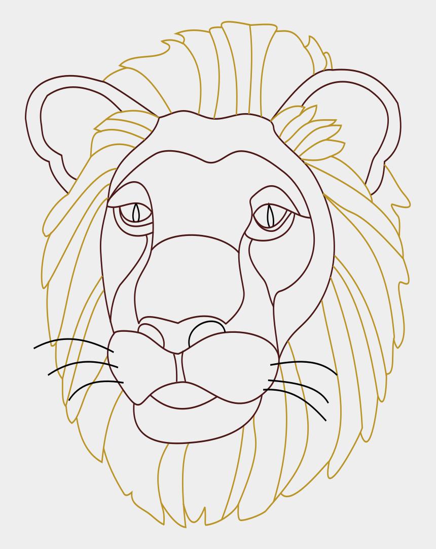 lion head clipart, Cartoons - Big Image - Illustration