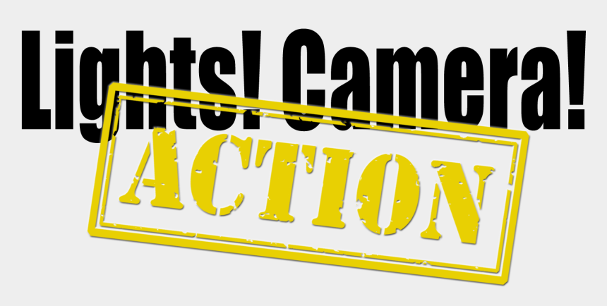 lights camera action clipart, Cartoons - #ftestickers #text #typography #lights #camera #action - Lights Camera Action Logo Png