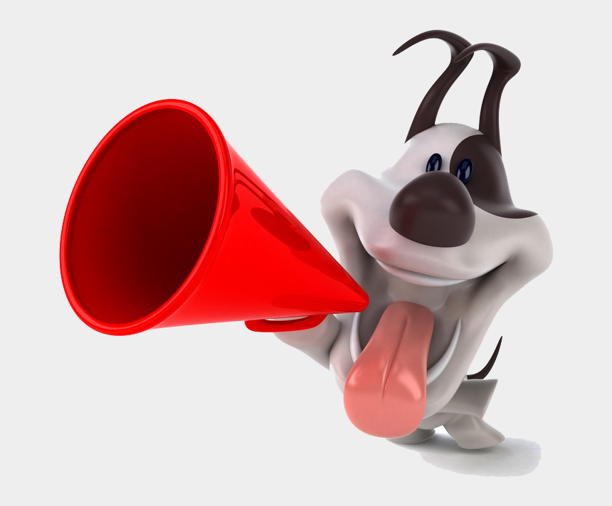 lights camera action clipart, Cartoons - Small White Dog Holding A Telephone In Its Mouth - Dog