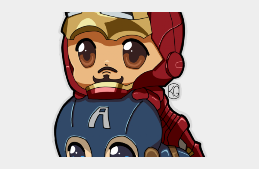 captain america clipart, Cartoons - Captain America Clipart Chibi - Iron Man Chibi Png