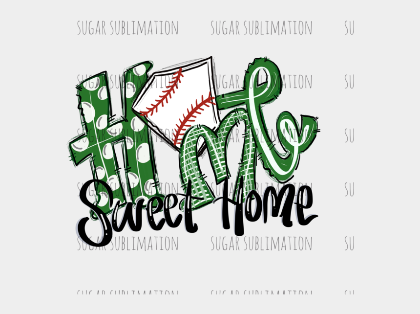 home sweet home clipart, Cartoons - Home Sweet Home - Home Sweet Home Baseball Svg