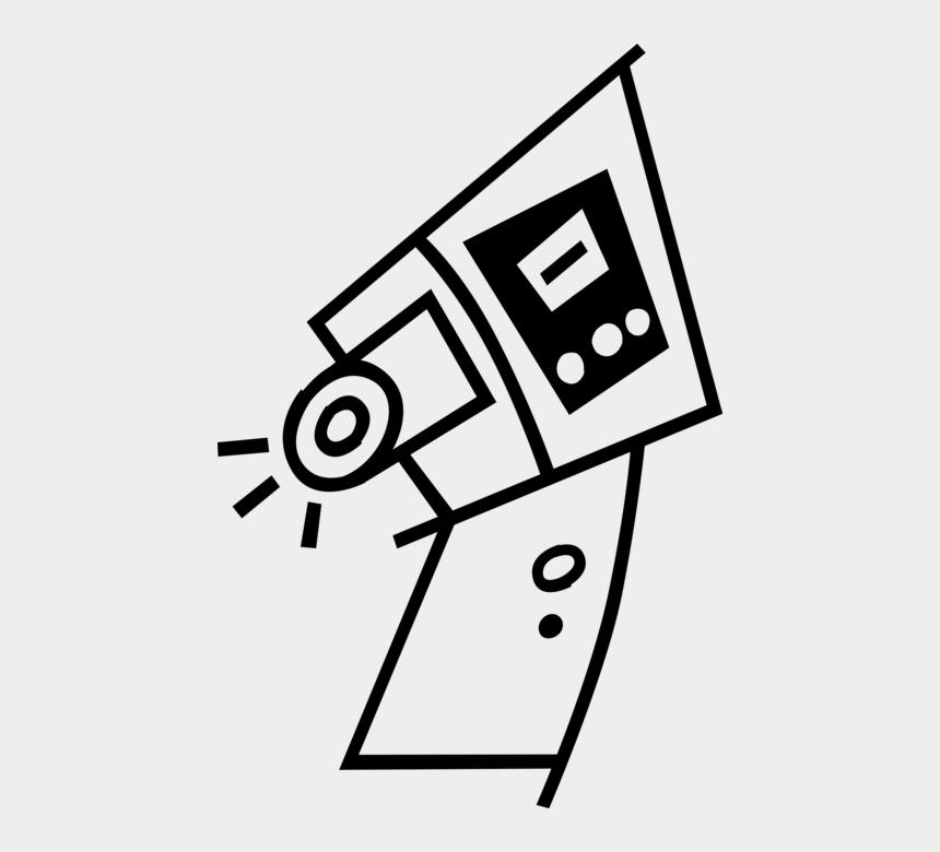 security camera clipart, Cartoons - Vector Securities Surveillance Camera