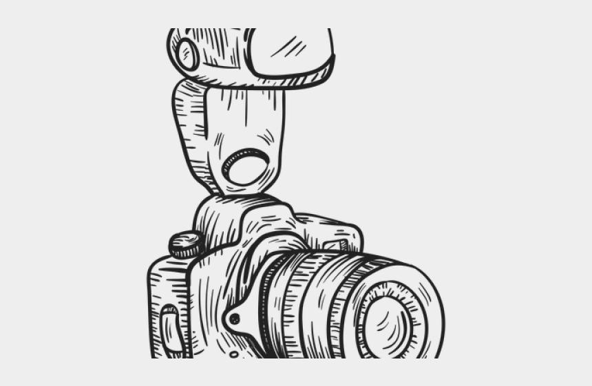 Drawn Camera Dslr Maquina Fotografica Desenho Png Cliparts