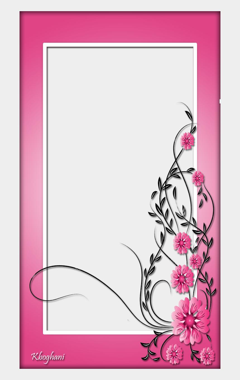 flower frame clipart, Cartoons - Pink Flower Frame - Pink Flower Frames Png