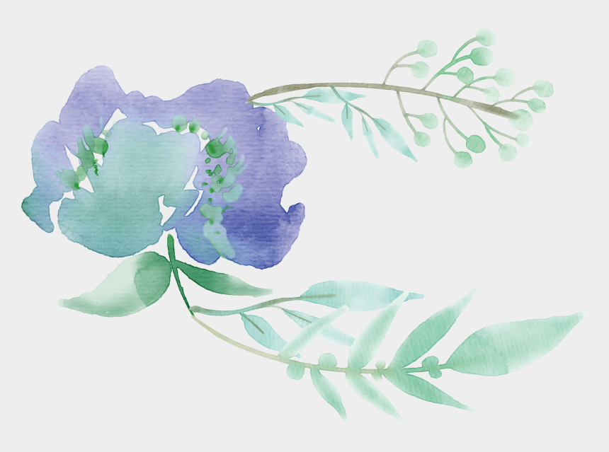 watercolor floral clipart, Cartoons - Green Watercolor Painting Flower Mentha Spicata - Watercolor Png Transparent Leaves