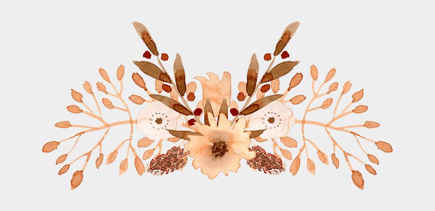 watercolor floral clipart, Cartoons - Watercolor Floral Elements Psd Png Font K101 - Watercolor Painting