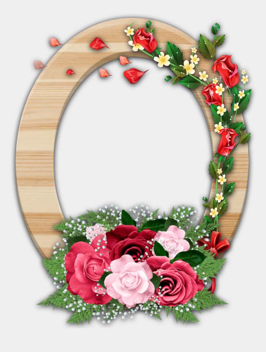 flower frame clipart, Cartoons - Clipart Flower Frame - Flower Photo Frame In Png