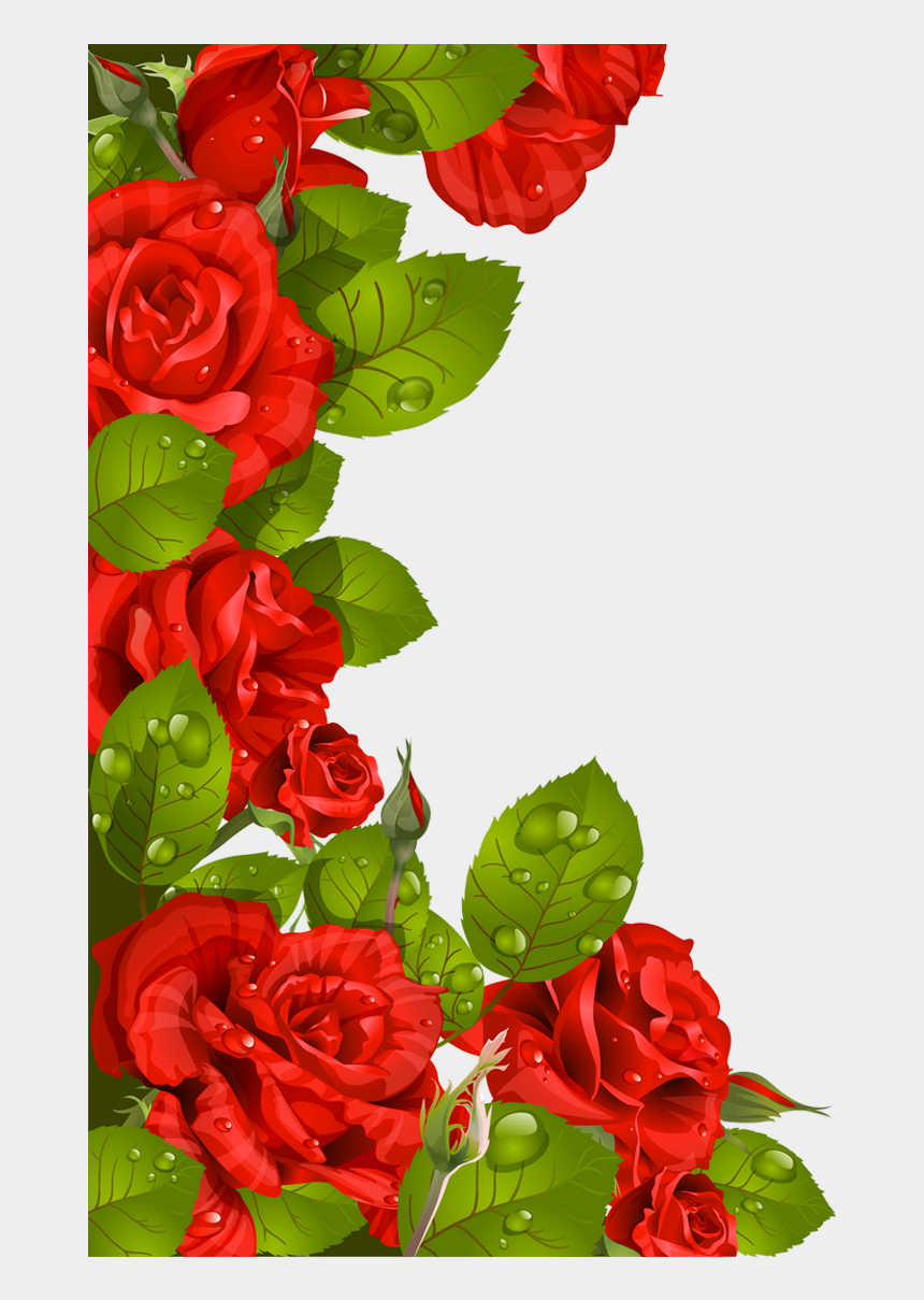 beautiful flower clipart, Cartoons - Rose Clipart, Flower Clipart, Smartphone Hintergrund, - Flower Borders Designs Red Roses