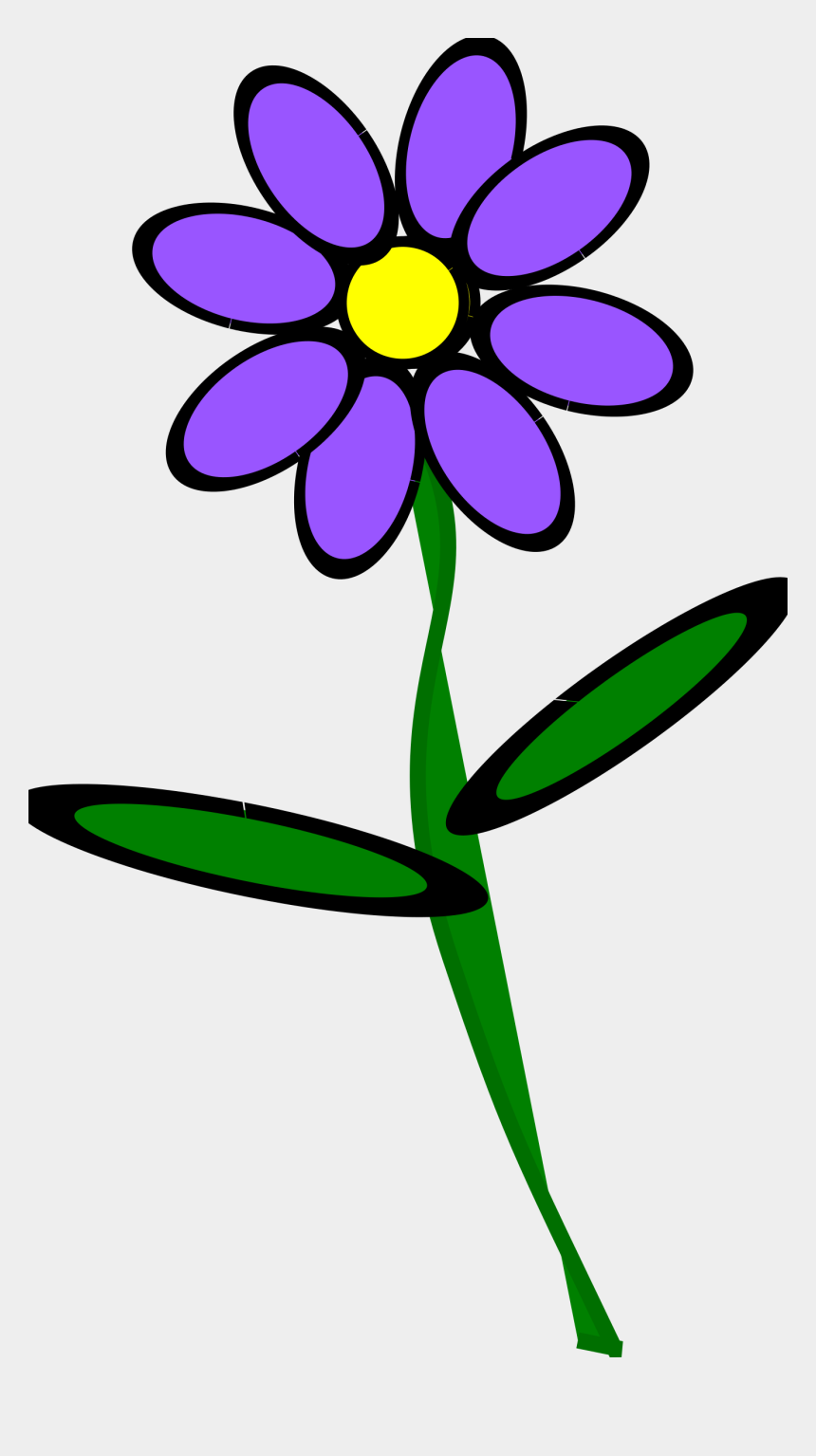 flower stem clipart, Cartoons - Purple Flowers Png - Violet Flower With Stem Clipart