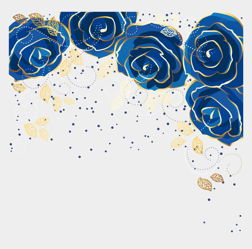 flower background clipart, Cartoons - Blue Party Themes, Blue Roses Wallpaper, Film Logo, - Blue Floral Background Png
