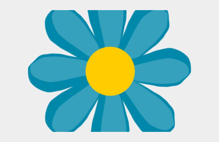 flower petal clipart, Cartoons - Petal Clipart Cute Blue Flower - Flower Clip Art