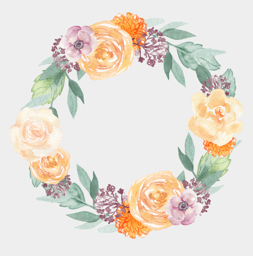 flower wreath clipart, Cartoons - #wreath #flower #flowers #floral #ftesticker #watercolor - Transparent Spring Flowers Png