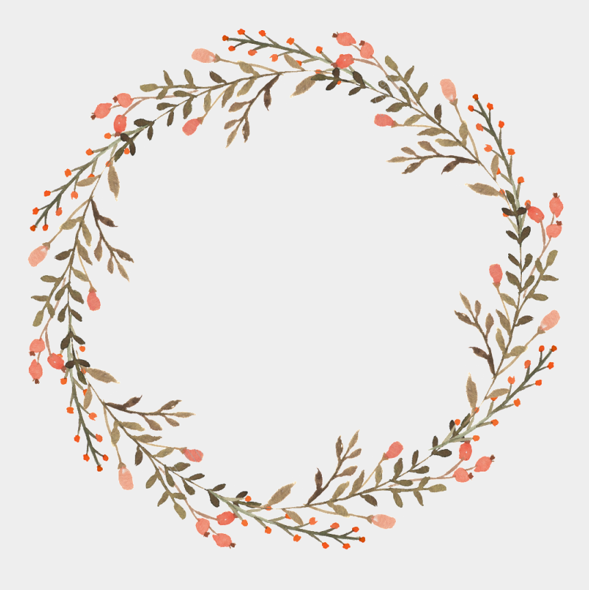 flower wreath clipart, Cartoons - Twig Vector Wreath - Floral Wreath Watercolor Png