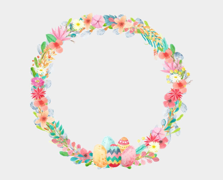 flower wreath clipart, Cartoons - Wreath Png Spring - 2019 Easter Transparent Png