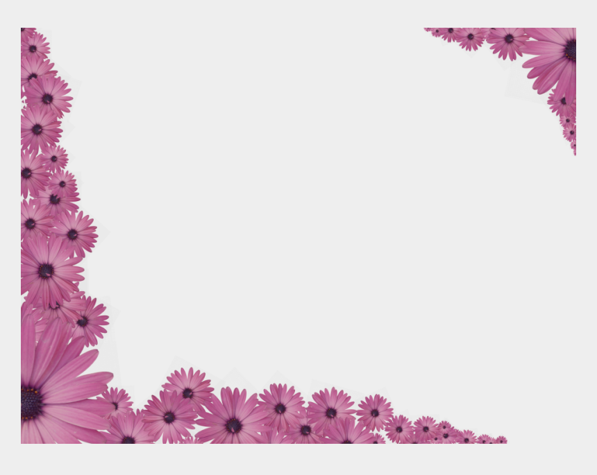 Bright Floral Corner Border In Pink Color Rectangular