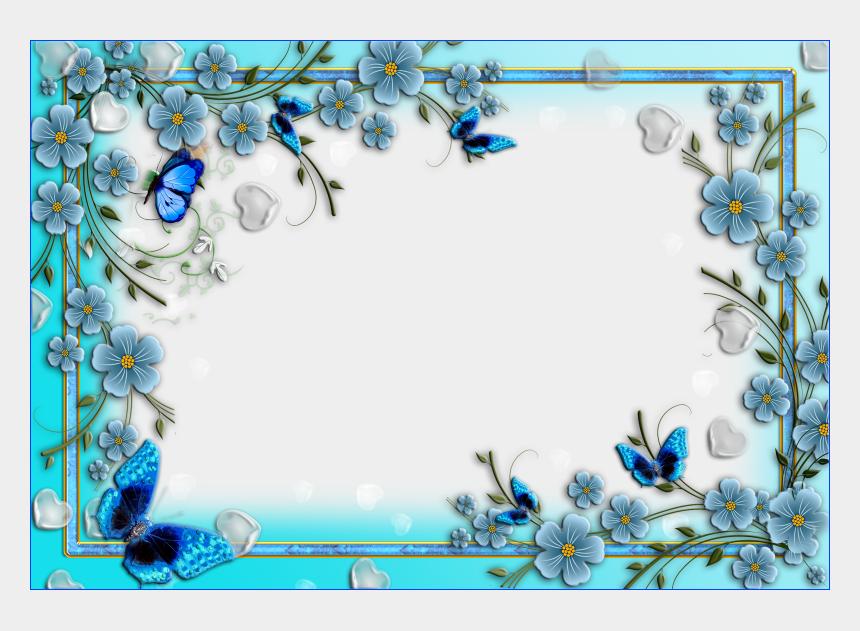 blue flower clipart, Cartoons - Blue Flower Clipart Border - Border Design Blue Flower