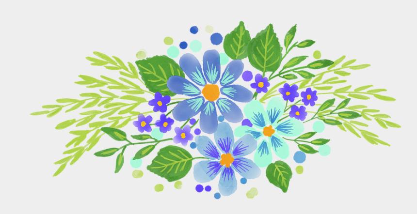free clipart flowers bouquet, Cartoons - Watercolour Flowers Bouquet Spring Floral - Font
