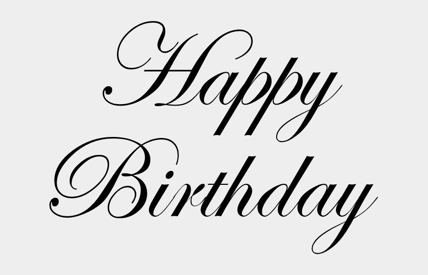 happy birthday clipart black and white, Cartoons - Happy Birthday Text Png Pic - Happy Birthday Text Png