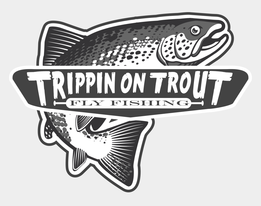 trout clipart, Cartoons - Trippin On Logo Final Tail Fly Fishing Ⓒ - Logo Fly Fishing