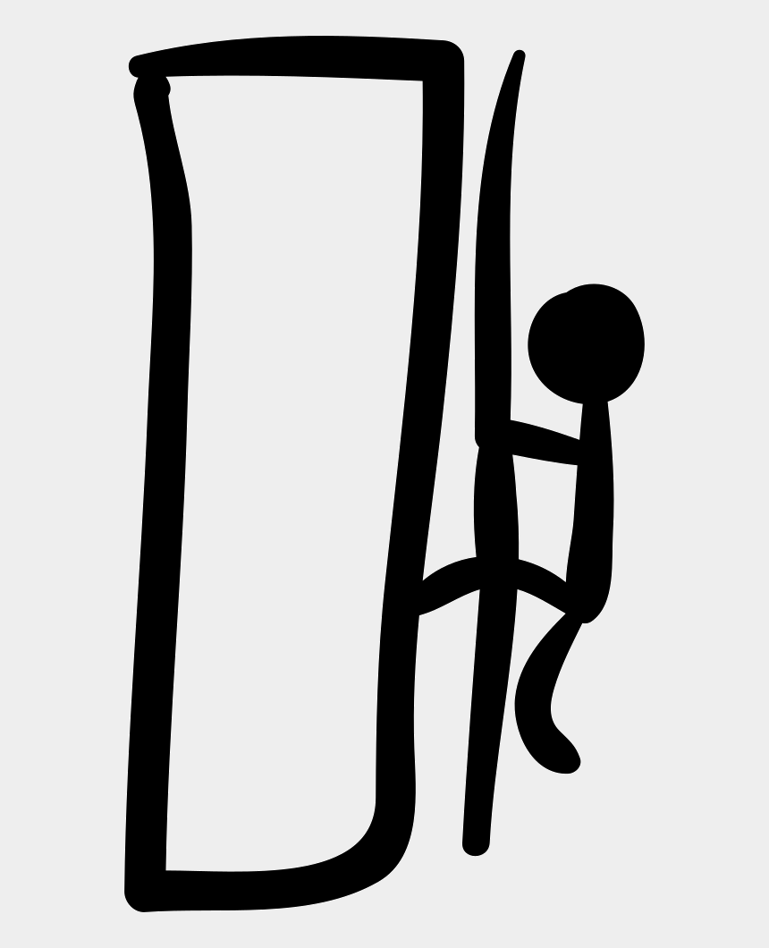 mountain climber clipart, Cartoons - Climbing Mountain Hand Drawn Climber Comments