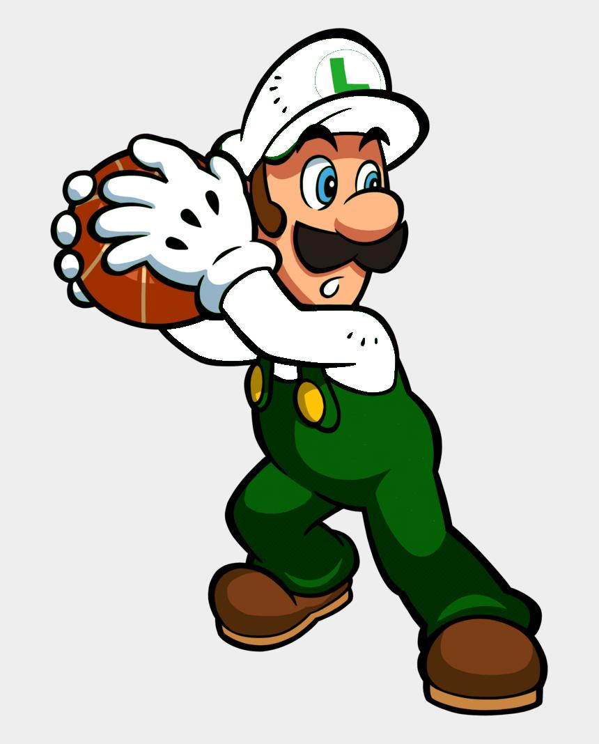 Basketball Clipart Fire Mario Hoops 3 On 3 Luigi Cliparts