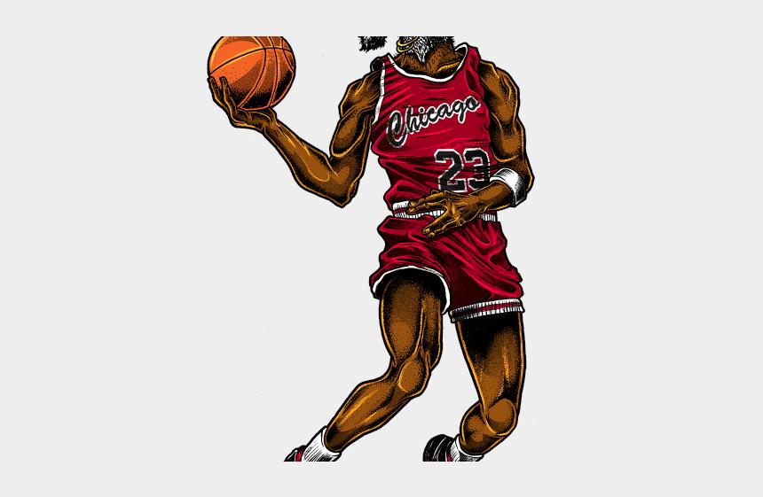 basketball jersey clipart, Cartoons - Michael Jordan Clipart Jordan Dunking - Michael Jordan With Goat Head