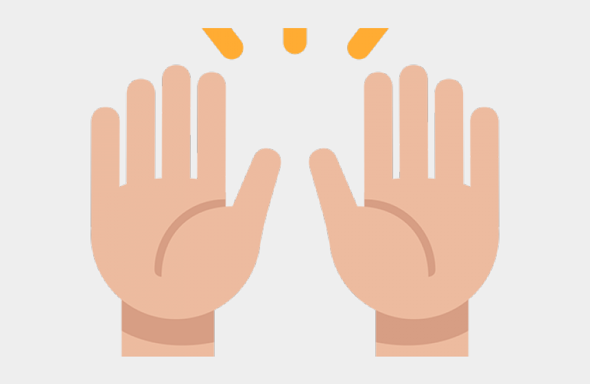 hand in hand clipart, Cartoons - Hand Emoji Clipart Person Raising Both Hand In Celebration - Raising Both Hands Emoji Png