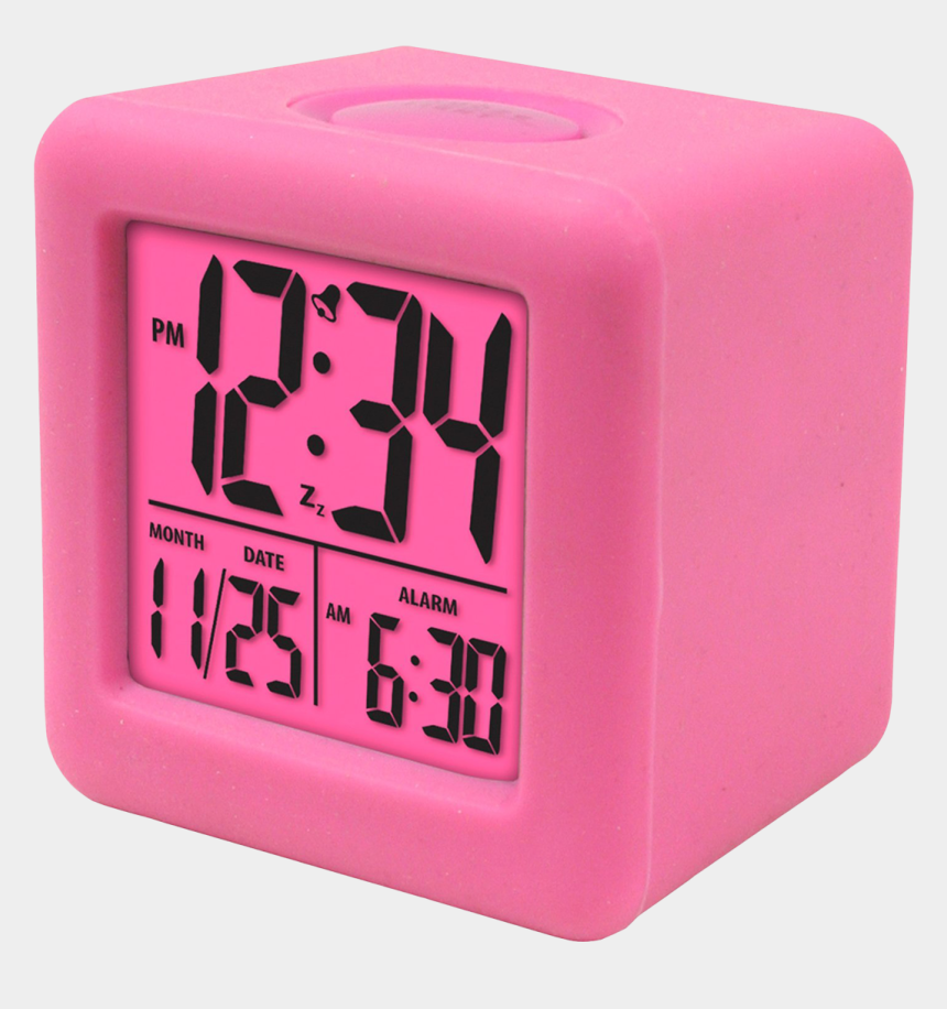 digital clock clipart, Cartoons - Digital Alarm Clock - Square Digital Alarm Clock