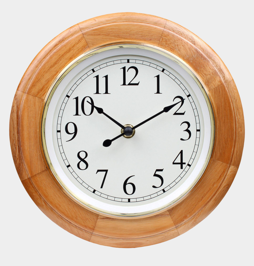 analog clock clipart, Cartoons - Wooden Wall Clock - Wall Watch Image Png