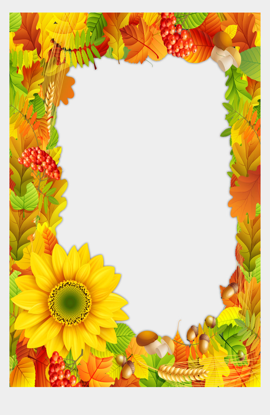 autumn border clipart, Cartoons - Fall Frame Png - Color Fall Borders And Frames