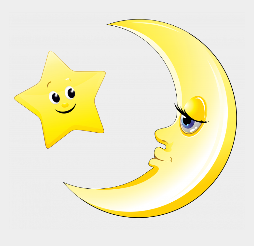 moon clipart png, Cartoons - Cute Moon And Stars Clipart - Moon And Star Cute