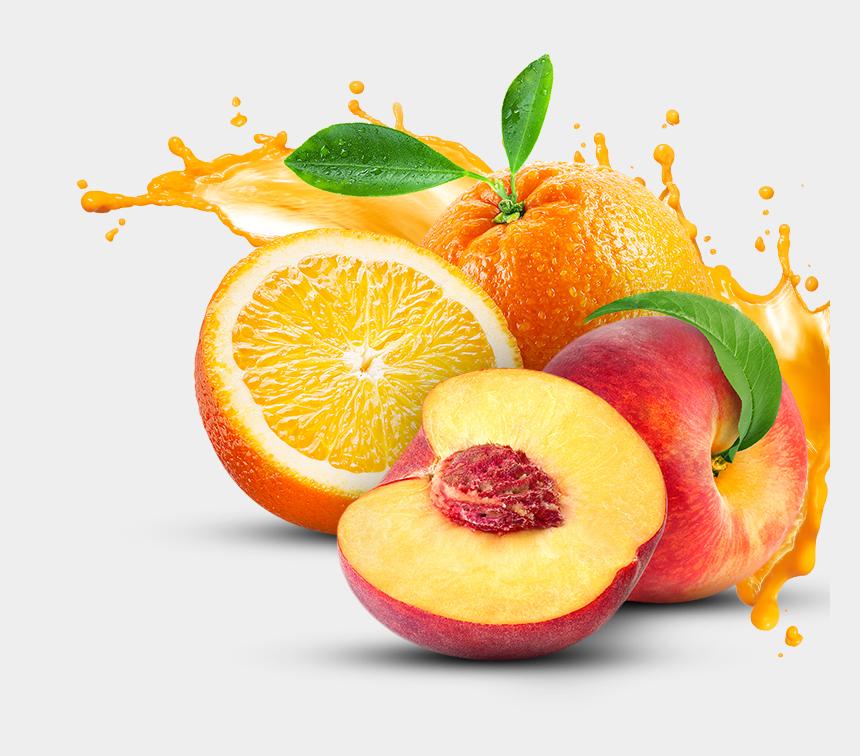 orange fruit clipart, Cartoons - Peach & Orange - Fresh Fruit Juice Png