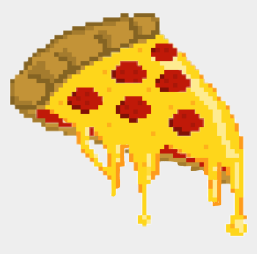 cheese pizza clipart, Cartoons - Pizza Pizza🍕 Love Pixels Tumblr Aesthetic Cheese Peper - Piskel Pizza
