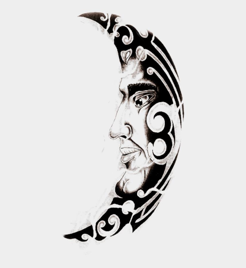 half moon clipart, Cartoons - #moon #man #halfmoon #tattoo #mix - Sleeve Tattoo
