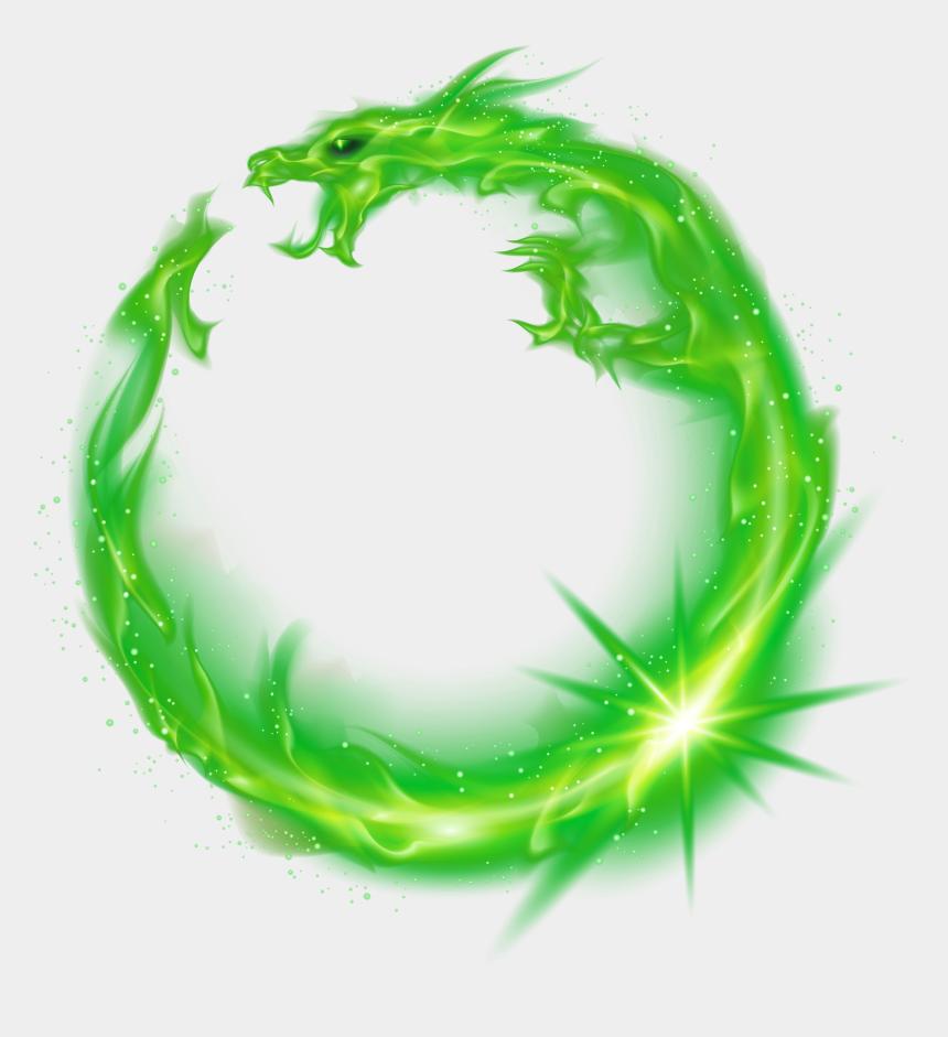 dragon fruit clipart, Cartoons - Flame Green Circle - Transparent Fire Circle Png