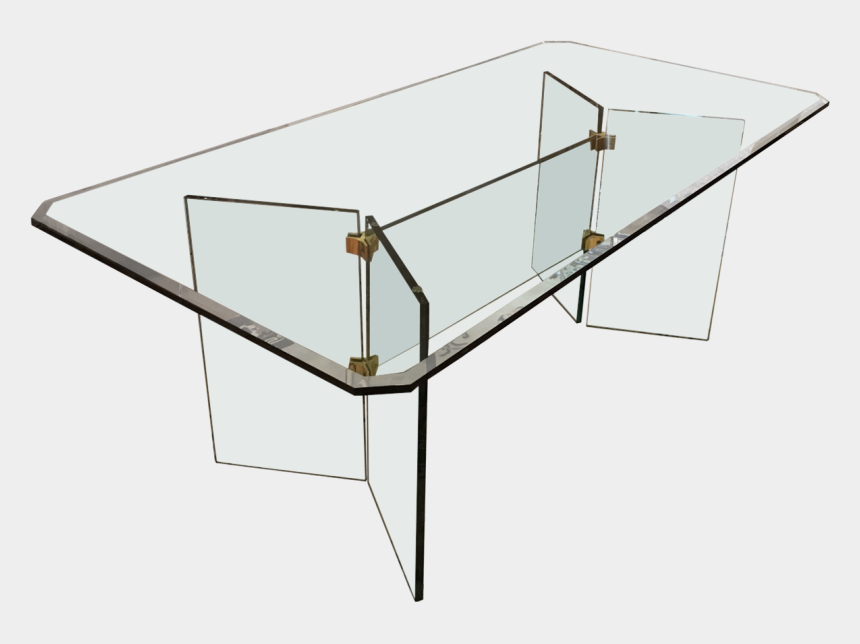 This Glass Dining Table With Brass Fittings Recalls Vintage