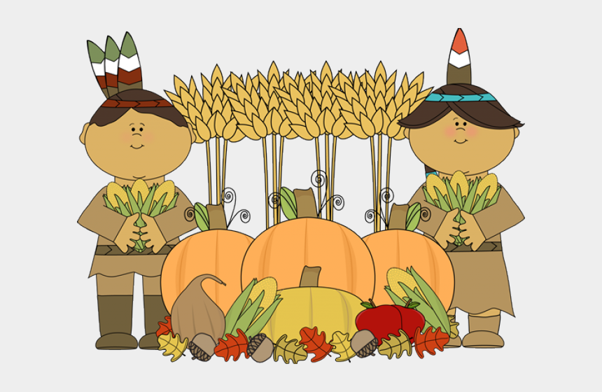 cute thanksgiving clipart, Cartoons - Pilgrim And Indian Cartoon