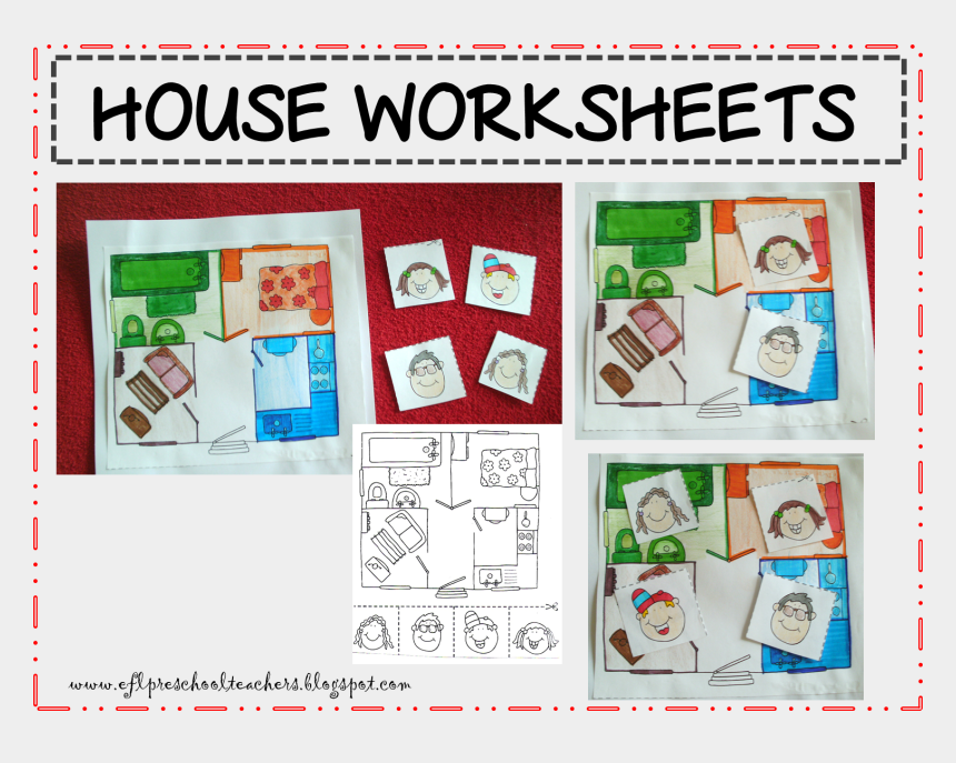 parts of the house clipart, Cartoons - Worksheets Are Great Resources For Our Class, I Sometimes - My House Worksheets For Grade 1