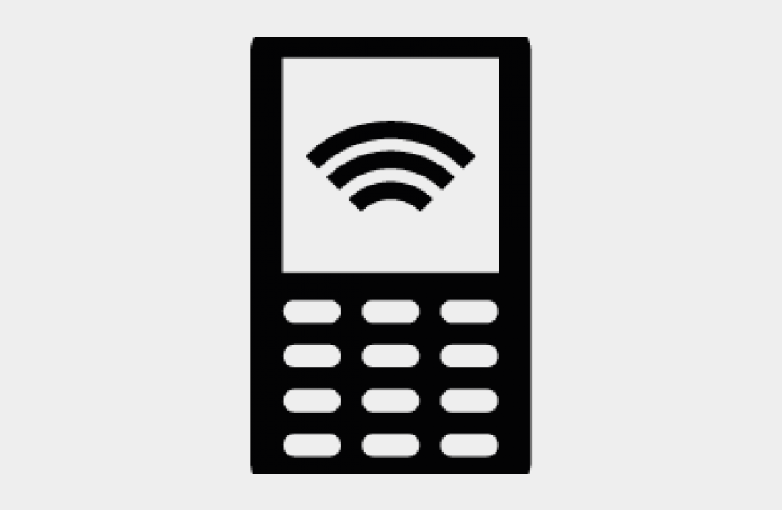 cell clipart, Cartoons - Old Mobile Phone Silhouette