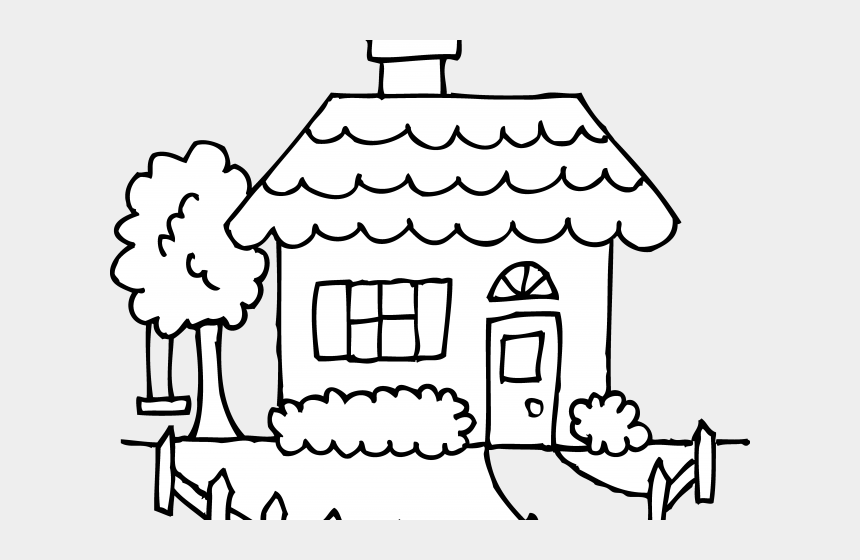 Home Clipart Black And White Cartoon House Coloring Pages Cliparts Cartoons Jing Fm