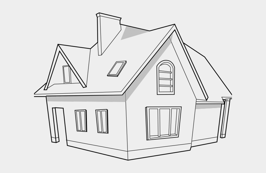 Clip Art Pictures Black And White House