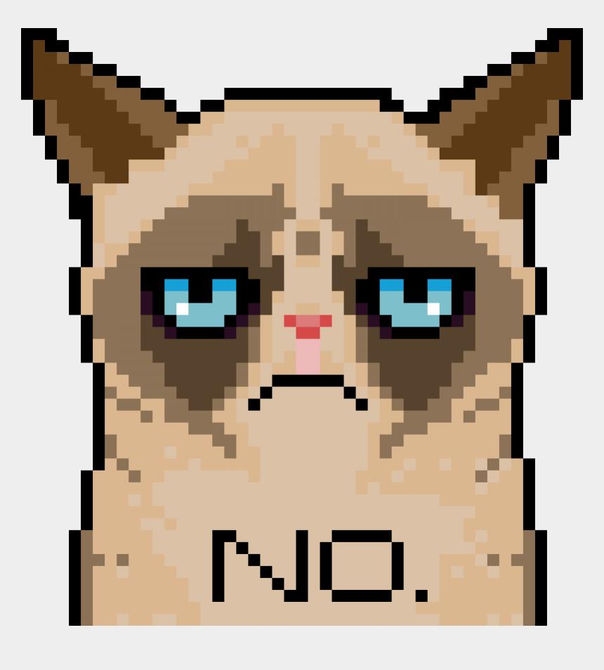grumpy cat clipart, Cartoons - Grumpy Cat Pixel - Minecraft Pixel Art Grumpy Cat