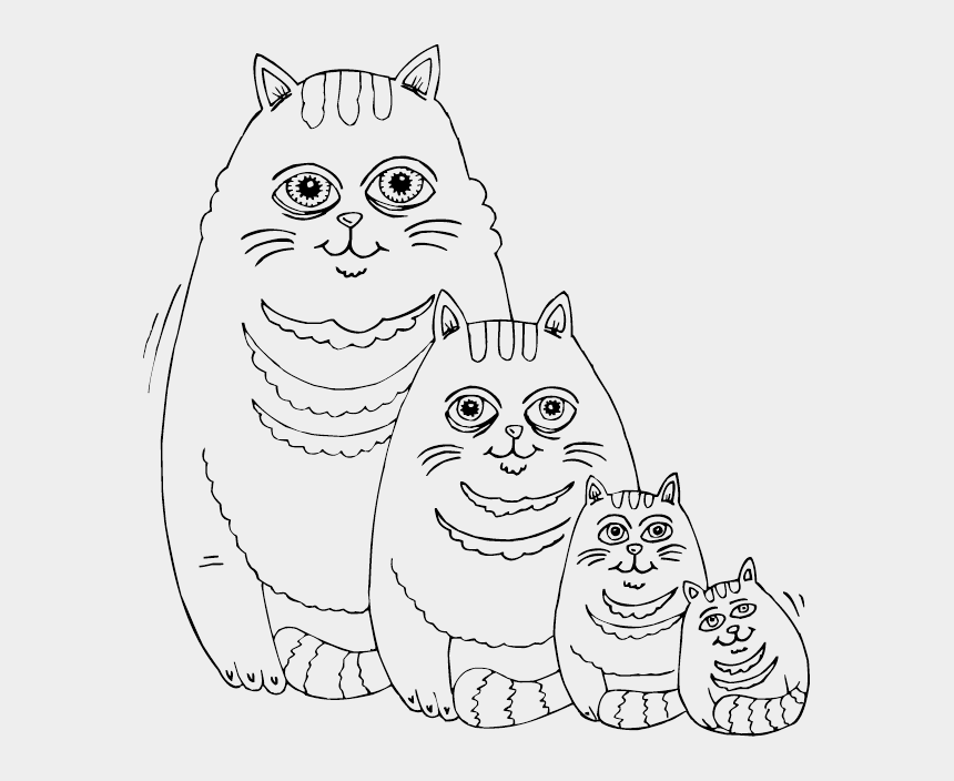 fat cat clipart, Cartoons - Fat Cat Family Coloring Page - Fat Cat Coloring Pages