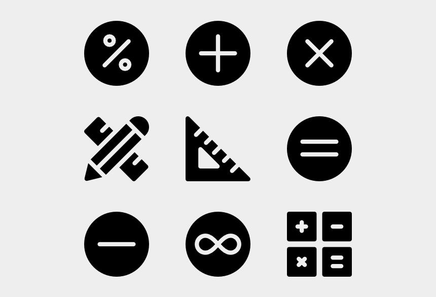 math symbols clipart, Cartoons - Math Symbols - Math Symbols Clipart Black And White
