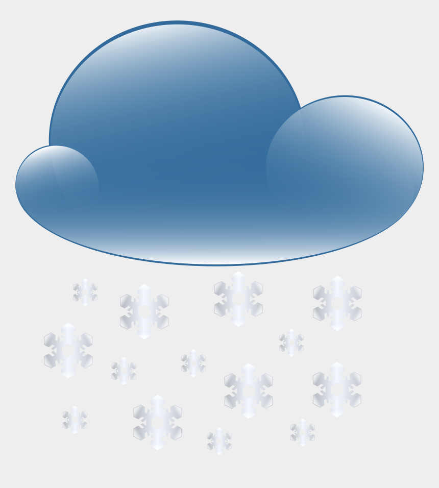 snow background clipart, Cartoons - Snowy Cloud Weather Icon - Transparent Background Rain Cloud Clipart