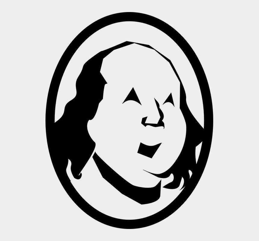 person outline clipart, Cartoons - Benjamin Franklin Franklin Man Person Male Face - Benjamin Franklin Outline Drawing
